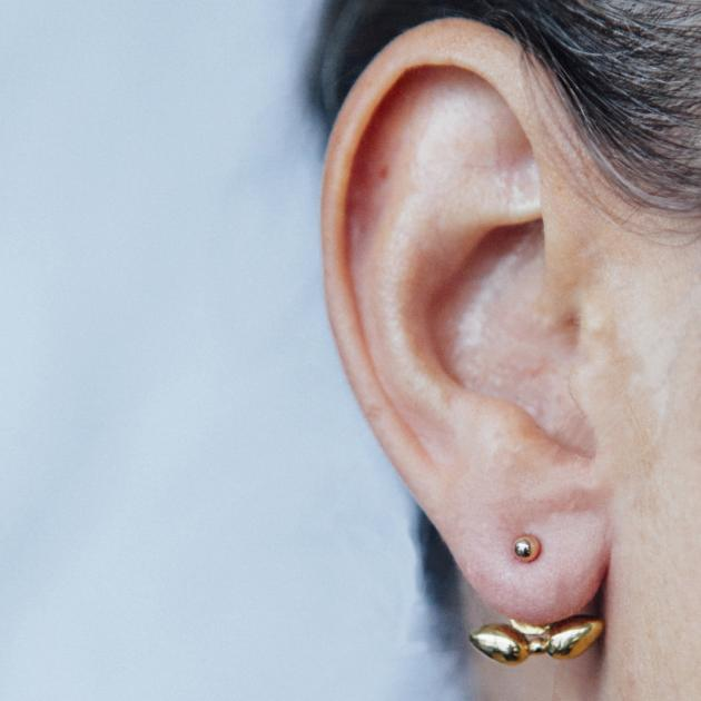 Dinant earrings - gold-plated