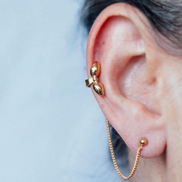 Donostia earrings small bow - gold-plated