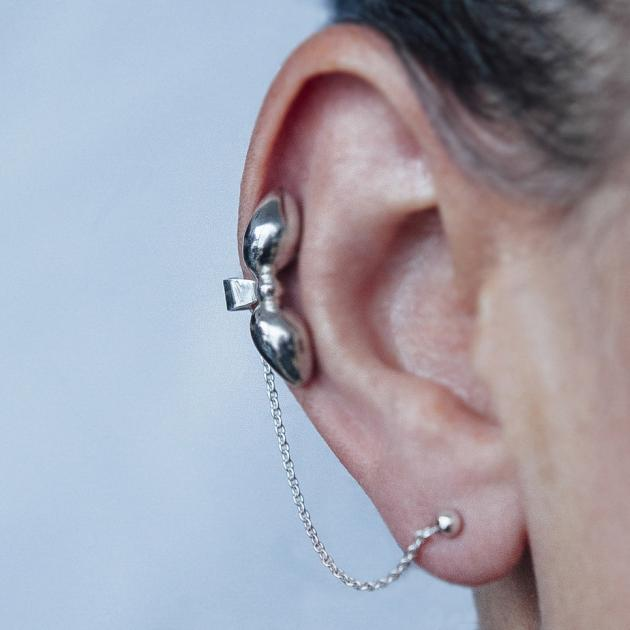 Donostia earrings large bow - silver