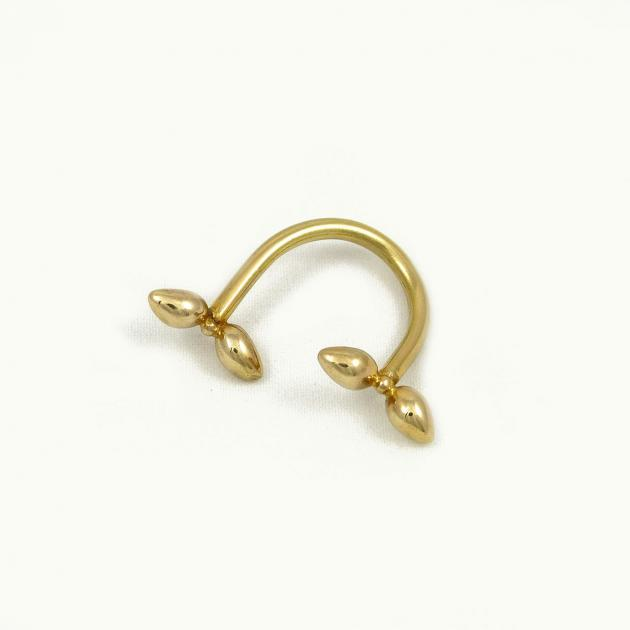 Donostia ring dual bow - gold-plated