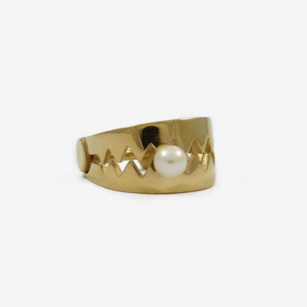 Trap ring - gold-plated