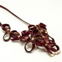 Biarritz necklace - burgundy