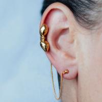 Donostia earrings large bow - gold-plated