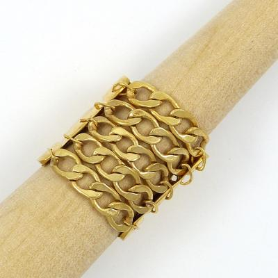 Cologne III ring - gold-plated